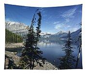 Peaceful Mountain Lake Tapestry
