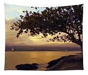 Peaceful Sundown On Hilo Bay - Hawaii Tapestry