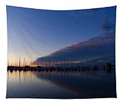Peaceful Yachts And Sailboats Tapestry