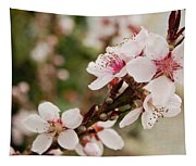 Peach Tree Blossoms Tapestry