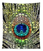 Peacock Feather - Stone Rock'd Art By Sharon Cummings Tapestry