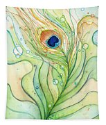 Peacock Feather Watercolor Tapestry
