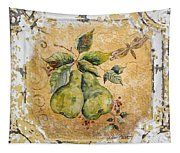 Pears And Dragonfly On Vintage Tin Tapestry