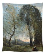 Peasant Woman Collecting Wood Tapestry