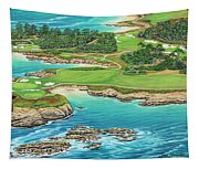 Pebble Beach 15th Hole-south Tapestry