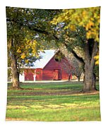 Pecan Orchard Barn Tapestry