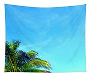 Peekaboo Palm - Tropical Art By Sharon Cummings Tapestry