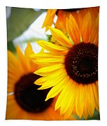 Peekaboo Sunflowers Tapestry