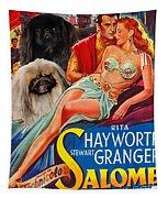 Pekingese Art - Salome Movie Poster Tapestry