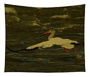 Pelican Flying Low Tapestry