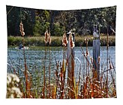 Pelican On A Stick Tapestry