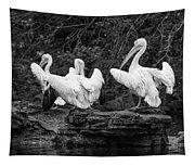 Pelicans Mono Tapestry