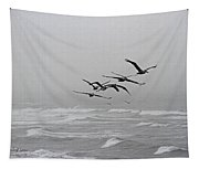 Pelicans With Full Bellies Tapestry