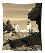 Pemaquid Point Sepia Tapestry