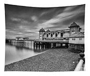 Penarth Pier 1 Mono Tapestry
