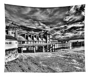 Penarth Pier 6 Monochrome Tapestry