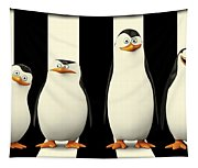 Penguins Of Madagascar Tapestry