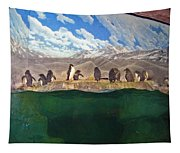 Penguins On Ice Tapestry
