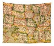 Pennsylvania Railroad Map 1879 Tapestry