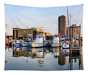 Pensacola Beach Harbor Panoramic Tapestry