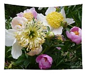 Peonies Bouquet Tapestry