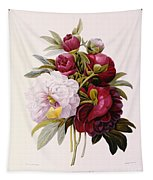 Peonies Engraved By Prevost Tapestry