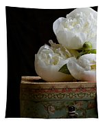 Peony Flowers On Old Hat Box Tapestry