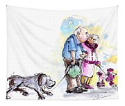 People And Their Dogs 02 Tapestry