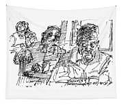 People At The Cafe Tapestry