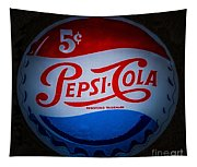 Pepsi Cap Sign Tapestry