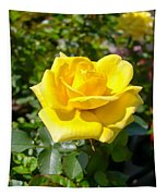 Perfect Yellow Rose Tapestry
