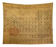 Periodic Table Of The Elements Tapestry