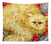 Persian Cat On A Cushion Tapestry