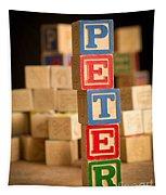 Peter - Alphabet Blocks Tapestry