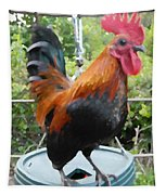 Petey The Old English Game Bantam Rooster Tapestry