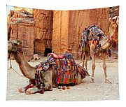 Petra Camels Tapestry