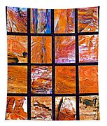 Petra Rocks Photo Assemblage In Petra-jordan   Tapestry