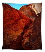 Petroglyphs Valley Of Fire Nevada Tapestry