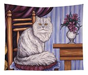Pewter The Cat Tapestry