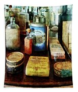 Pharmacy - Cough Remedies And Tooth Powder Tapestry