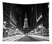 Philadephia City Hall -- Black And White Tapestry