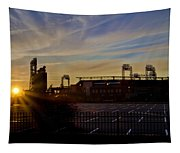 Phillies Citizens Bank Park At Dawn Tapestry