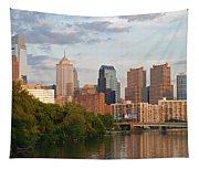 Philly Summer Skyline Tapestry