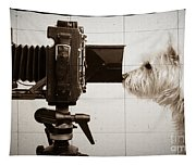 Pho Dog Grapher - Ground Glass View Tapestry