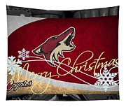 Phoenix Coyotes Christmas Tapestry