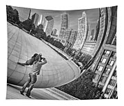 Photographing The Bean - Cloud Gate - Chicago Tapestry