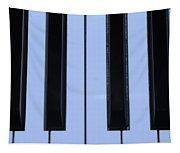 Piano Keys In Cyan Tapestry