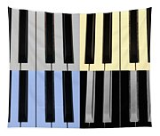 Piano Keys In Quad Colors Tapestry