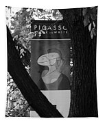 Picasso In Black And White Tapestry