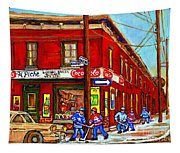 Piche's Grocery Store Bridge Street And Forfar Goosevillage Montreal Memories By Carole Spandau Tapestry